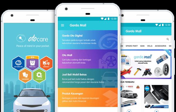 Garda Mobile otocare memudahkan Anda mengakses semua kemudahan Garda Oto Digital