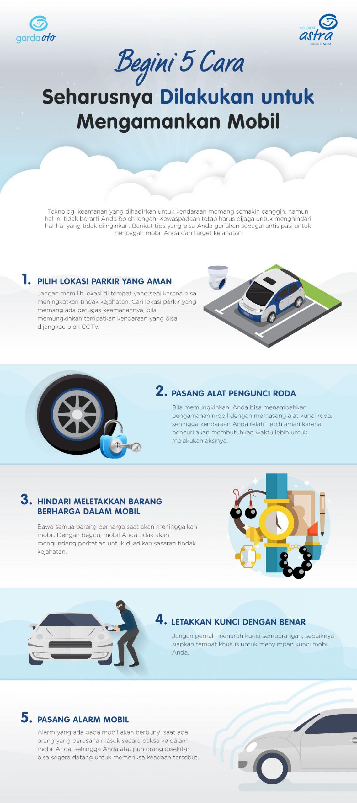 Begini 5 Cara Seharusnya Dilakukan untuk Mengamankan Mobil