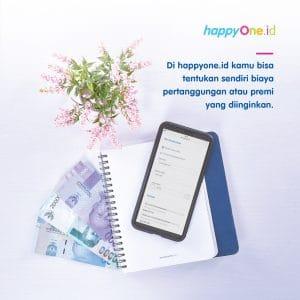 Di happyOne kamu bisa Tentukan sendiri biaya pertanggungan atau premi yang diinginkan