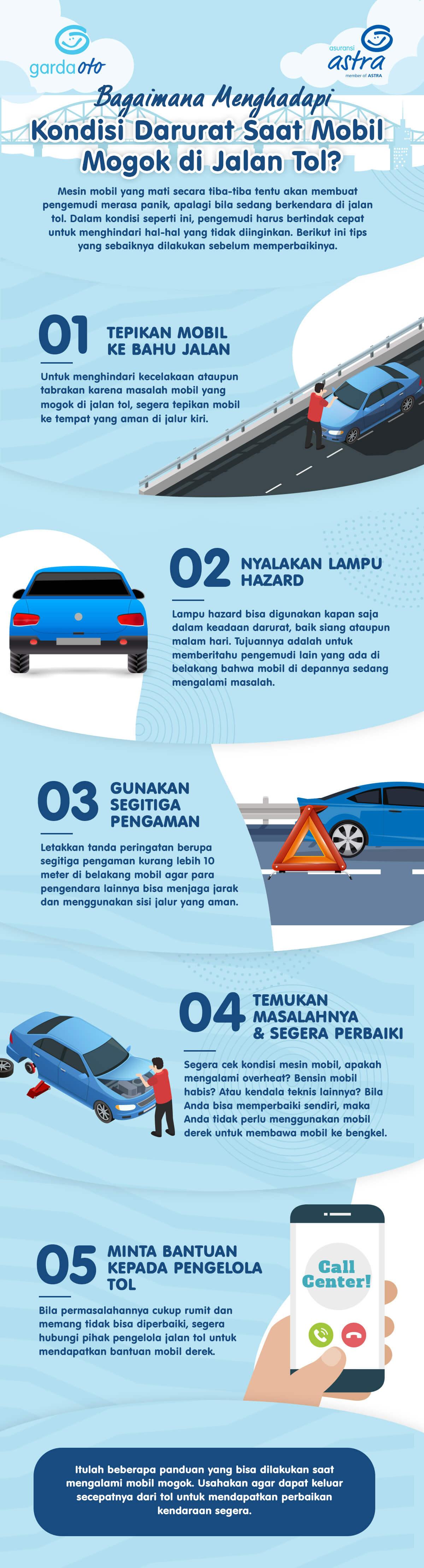 Tips jika mogok di jalan tol