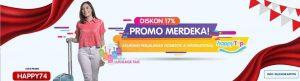 Promo Merdeka! Asuransi Perjalanan HappyTrip Diskon 17%