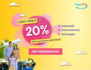 Promo happyTrip 20% - Promo Liburan Akhir Tahun