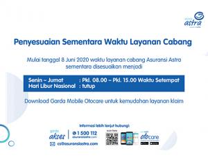 Penyesuaian Waktu Asuransi Astra Juni 2020 Mobile