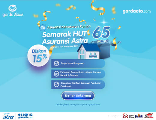 Promo Garda Home September 2021 - gardaoto.com